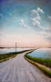 Grand Bayou Way at Foster Canal Port Sulphur, Oil on canvas
