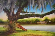 Avoca Island Cutoff, Bayou Milhomme,  Stephensville   24 x 36 inches, oil on canvas