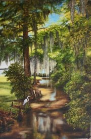 Bayou at Lake Palourde,  Morgan City  36 x 24 inches, oil on canvas
