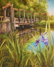 Louisiana Wild Iris, 4 Mile Bayou at Lake Verret  20 x 16 inches, oil on canvas