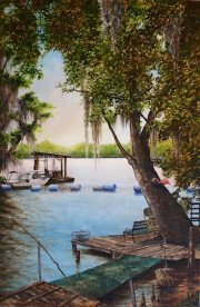 Swimming Hole, 4 Mile Bayou at Bayou Magazille  30 x 20 inches, oil on canvas
