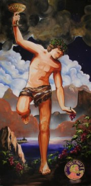 Bacchus, 2 x 4 feet, giclee with hand finishing on stretched canvas