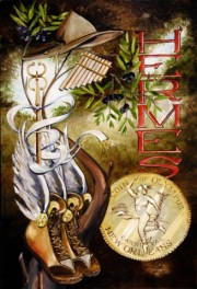 Hermes, 24 x 36 inches, giclee with hand finishing on stretched canvas