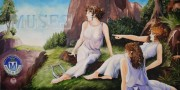 Muses, 2 x 4 feet, giclee with hand finishing on stretched canvas