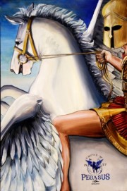 Pegasus, 24 x 36 inches, giclee with hand finishing on stretched canvas