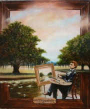 Alexander J. Drysdale, Painter of Myth and Legend, 24 x 20 inches, oil on canvase