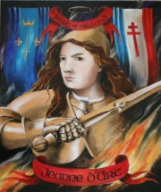 Jeanne d'Arc, Maid of Orleans, 24 x 20 inches, oil on canvas