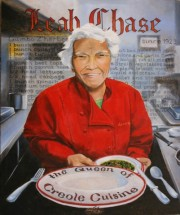 Leah Chase, Queen of Creole Cuisine, 24 x 20 inches, oil on canvas