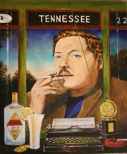 Tennessee Williams, 24 x 20 inches, oil on canvas