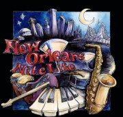 New Orleans Night Life, Ready-to-hang plaques on jigsawed wood under a glossy epoxy resin topcoat. No frame needed.