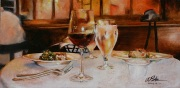 Cafe Atchafalaya, 10 x 20 inches, oil on canvas