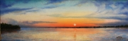 At the Mouth of the Pearl River, 10 x 30 inches, 14K gold, oil on canvas